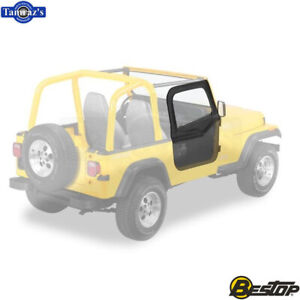 1988 1995 Jeep Wrangler Upper Fabric Half door Set Spice
