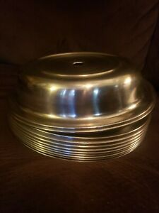 Lot Of 10 Stainless Steel Dome Plate Covers Room Service Restaurants read Desc