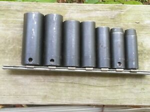 Snap On Tools 3 8 Drive 7pc 6pt Deep Impact Socket Set Simf Series Usa