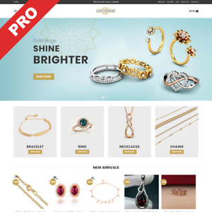Gold Jewelry Store Turn key Dropshipping Website Business For Sale
