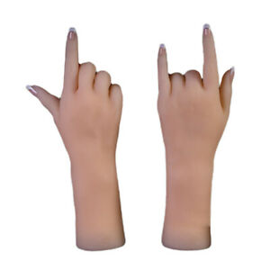 Silicone Realistic Fake Hands Mannequin For Jewelry Bangles Watches Display