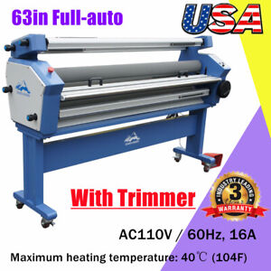 67 Full auto Stand Frame Single Side Wide Format Cold Hot Laminator Machine