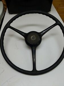 Vintage Sheller 3 Spoke 17 Steering Wheel With Horn Button Jeep Ford Chevy