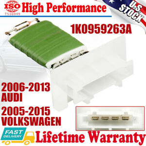 Heater Ac Blower Resistor For Vw Jetta Golf Passat Mk5 Mk6 2003 2013 1k0959263a