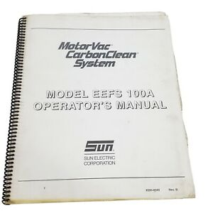 Motorvac Coolant Clean Eefs 100a Owner Manual Guide Flush Recovery Machine Auto