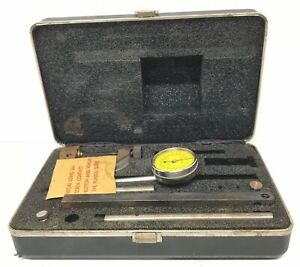 Starrett 196 196m Universal Dial Test Indicator Machinist Plunger Kit Case Rare