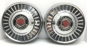 Pair Packard Clipper Hubcaps 10 25