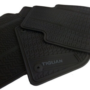 Floor Mats For Car Set Of All Weather Oem Volkswagen Tiguan 18 20 Grey Letters