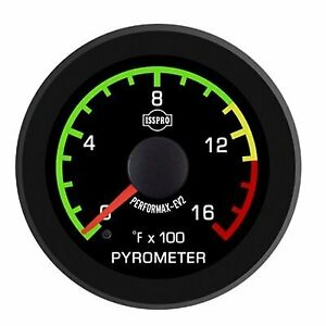 Isspro R17021 Ev Pyrometer With Color Band 0 1600 Full Kit Black Face Red