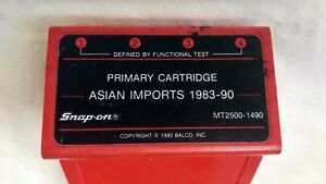 Mt2500 1490 Snap On Diagnostics Scanner Primary Cartridge Asian Imports 1983 90
