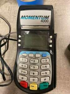 Hypercom T4220 Momentum 4000 Credit Card Payment Terminal Dual With Chip Reader