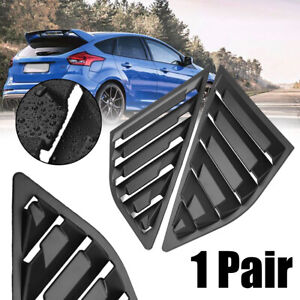 For 2012 2018 Ford Focus St Rs Mk3 Hatchback Black Rear Window Side Louvers Vent