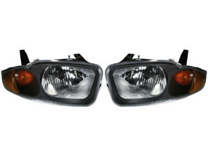 Headlights Headlamps For 03 05 Chevy Cavalier Left Right Replacement Set