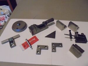 Lot Of Toolmaking tools starrett angle Plates square Checker t handle vise more