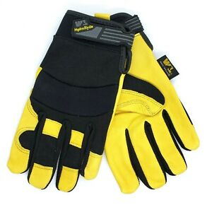 Wells Lamont Hydrahyde Water Resistant Breathable Leather Work Gloves 1 pair