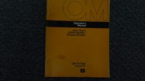 John Deere Jd 640 Grapple Skidder Log Operator Maintenance Owner Manual Omt51366