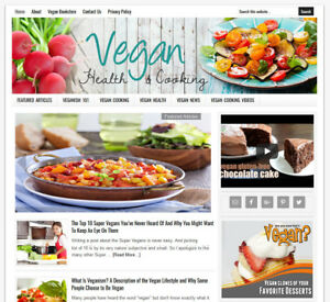 Vegan Health Cooking Blog Turnkey Website For Sale Auto Content Updates