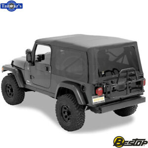2004 2006 Jeep Wrangler Unlimited Incl Tinted Windows Supertop Soft Top Black
