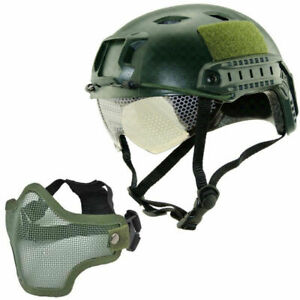 Military Tactical Airsoft Paintball SWAT Protective Fast Helmet W Goggle Mask $29.81