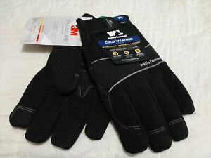 Wells Lamont Cold Weather Hi Dexterity Thinsulate Gloves Size Xl Touchscreen