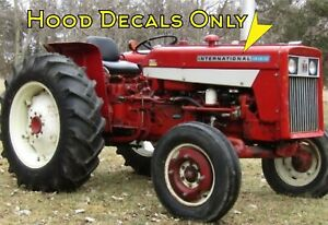 International 444 Utility Tractor Decals Only Right And Left Side