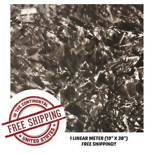 Hydrographic Film Water Transfer Hydro Dipping Dip Film 19 X 38 Forged Carbon