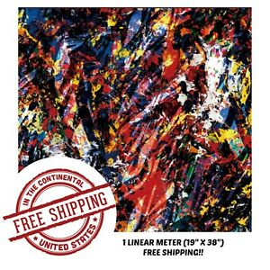 Hydrographic Film Water Transfer Hydro Dipping Dip Film Paint Splatter 4 1m