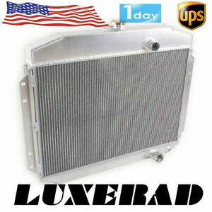 For 1961 1964 62 63 Ford F 100 F 250 F 350 Pickup Truck 3 Row Aluminum Radiator