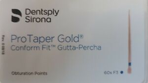 Protaper Gold F3 Gutta Percha Points Dentsply Tulsa Box Of 60 Dental Universal