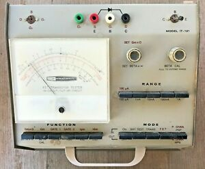 Heathkit It 121 Transistor Fet Tester 1959 As Is With Assembly Manual Pdf On Cd