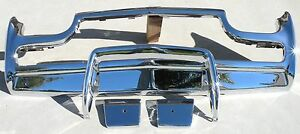 X Thunderbird Front New Triple Chrome Plated Bumper 61 63 1961 1963 Ford Oem