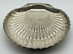Birks Sterling Silver Footed Scalloped Shell Dish Butter Candy Nuts 76 Grams
