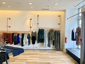 Copper Pipe Retail Boutique Clothing Racks
