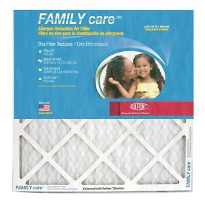 16x25x1 Dupont Family Care Pollen Allergen Merv 8 Air Filters 6 Pack