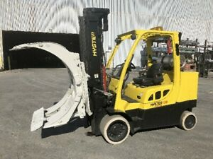 12 000 Pound Hyster Model S120ftprs Roll Clamp Truck Mfg 2012