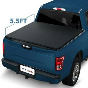 5 5ft Tri Fold Tonneau Bed Cover For 2009 2014 Ford F 150 Excl Raptor Series