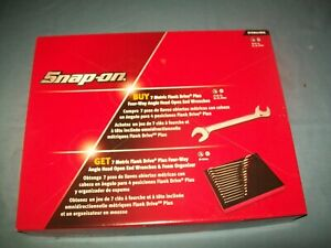 New Snap on 10 27 Mm 14pc Four Way Angled Head Offset Wrench Set Svsm01fbrx