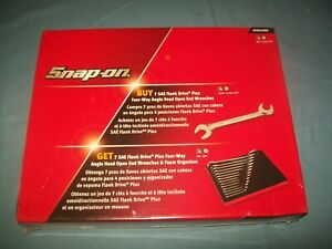 New Snap on 3 8 1 1 4 14pc Four Way Angled Head Offset Wrench Set Svs01fbrx
