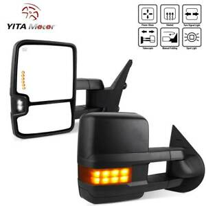 Yitamotor Pair Tow Mirrors Power Heated For 07 13 Chevy Silverado Sierra Nnbs