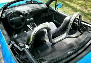 Chrome 2 T 304 Stainless Steel Support Rear Seat Roll Bar Fit Mazda Miata Mx5