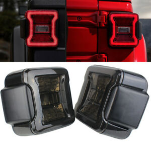 Eagle Lights Smoked Led Tail Lights For 2018 Jeep Wrangler Jl Jlu Models