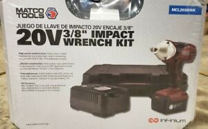 Brand New Matco Tools 3 8 Drive Cordless Impact Wrench Kit 20v Mcl2038iwk
