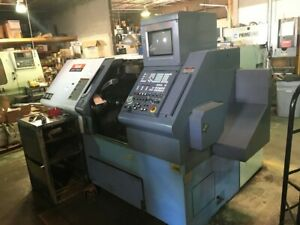 Used 1995 Mazak Qt n 20 Universal Cnc Turning Center Lathe Mazatrol Tailstock 8