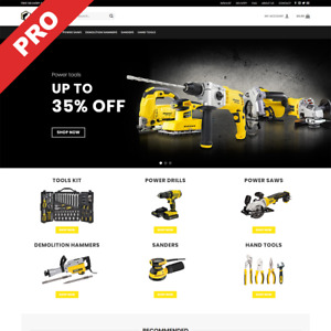 Electric Tools Store Turnkey Dropshipping Website Ready to go Business