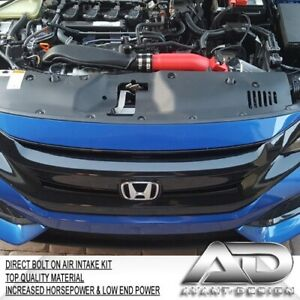2016 2019 For Honda Civic 10th Gen 1 5l Turbo Af Dynamic Cold Air Intake Red