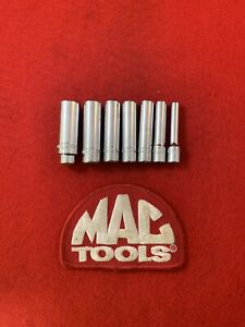 Mac Tools Usa 1 4 Drive 7pc 6pt Deep Socket Set Md Series H19