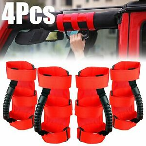 4 Pack Roll Bar Grab Grip Handle For Jeep Wrangler Cj Yj Tj Jk Jl Jt Accessories