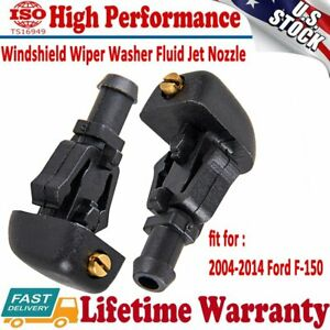2x Windshield Wiper Washer Fluid Jet Nozzle For Ford F 150 2004 2014 4f9z17603a