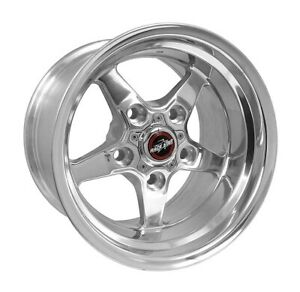 Race Star 92 Drag Star Lightning 17x10 5 5x5 5bc 6 5bs Dark Star Polished Wheel