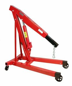 Dragway Tools 3 Ton 6000 Lb Heavy Duty Engine Hoist Cherry Picker Shop Crane